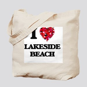 I love Lakeside Beach Michigan Tote Bag