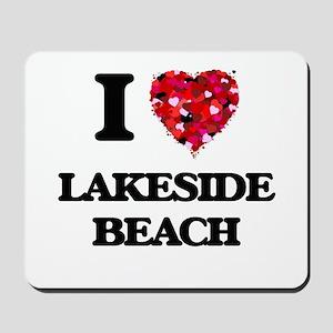I love Lakeside Beach Michigan Mousepad
