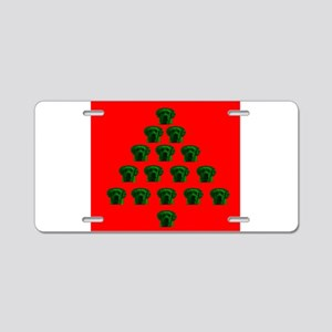 Labrador Christmas Tree Mel Aluminum License Plate