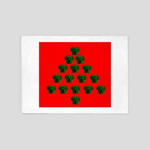 Labrador Christmas Tree Melissa's F 5'x7'Area Rug