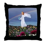 December Angel : Throw Pillow