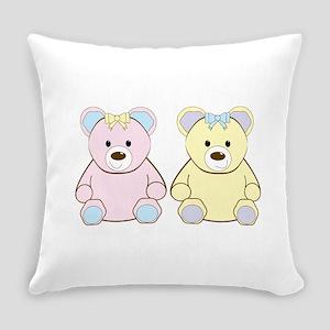 Two Teddies Everyday Pillow