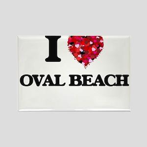 I love Oval Beach Michigan Magnets