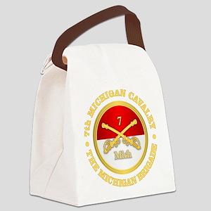 7th Michigan Cavalry Canvas Lunch Bag