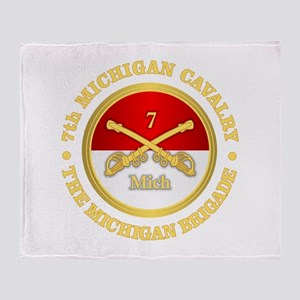 7th Michigan Cavalry Throw Blanket