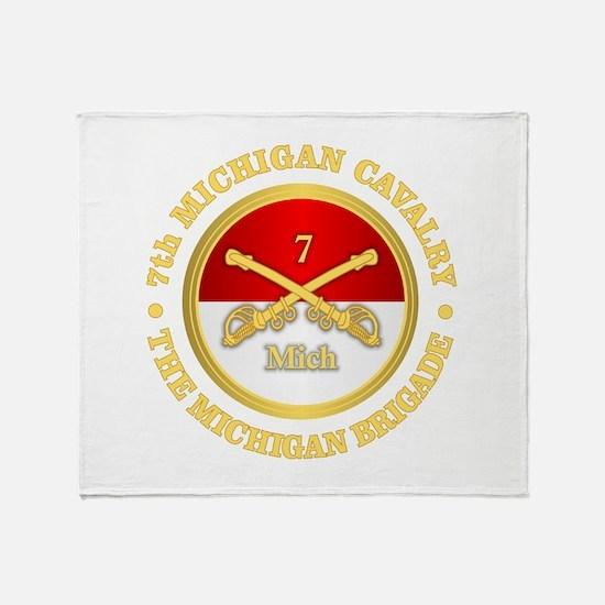 7th Michigan Cavalry Throw Blanket