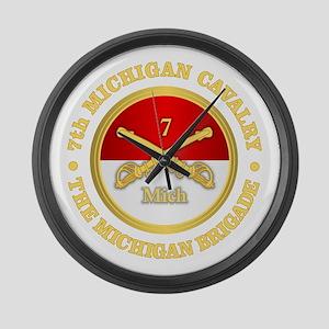 7th Michigan Cavalry Large Wall Clock
