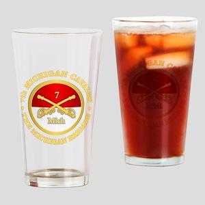 7th Michigan Cavalry Drinking Glass