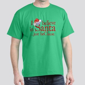 I Believe In Santa Dark T-Shirt