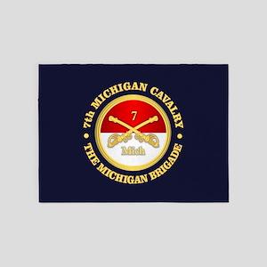 7th Michigan Cavalry 5'x7'Area Rug