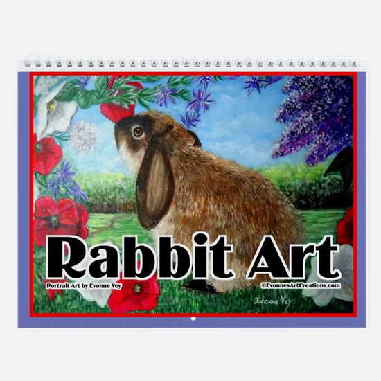 Rabbit Art Wall Calendar