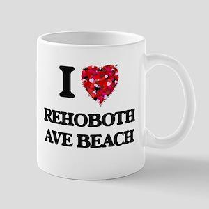 I love Rehoboth Ave Beach Delaware Mugs