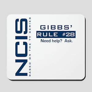 NICS Gibbs' Rule 28 Mousepad