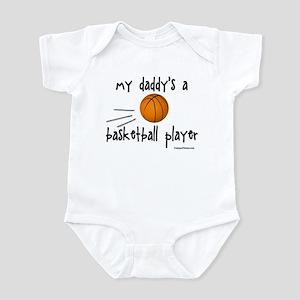 my daddy's a basketball playe Infant Bodysuit