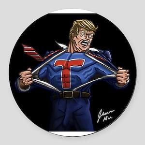 Super Trump! Round Car Magnet