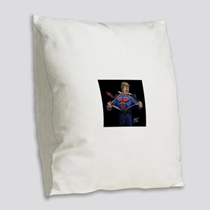 Super Trump! Burlap Throw Pillow