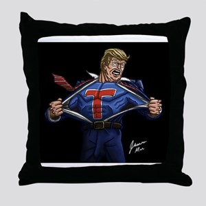 Super Trump! Throw Pillow
