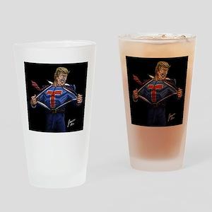 Super Trump! Drinking Glass