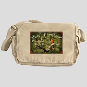 Cardinal Christmas Messenger Bag