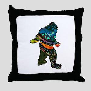 SQUATCH MANIA Throw Pillow