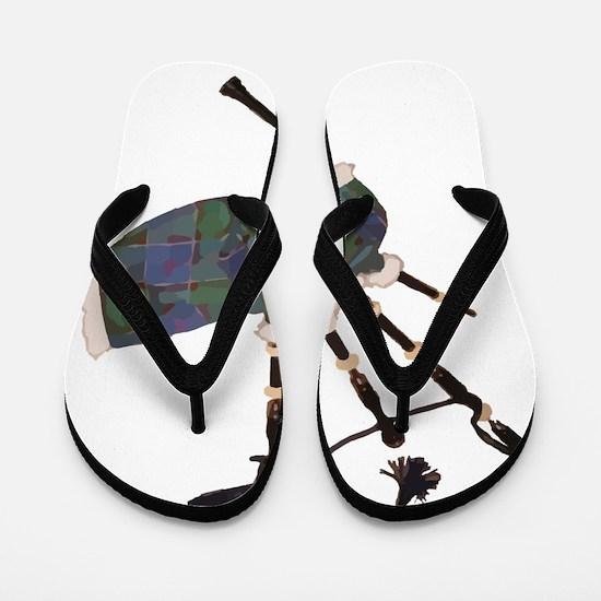 Unique Tartan Flip Flops