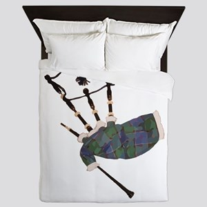tartan plaid scottish bagpipes Queen Duvet
