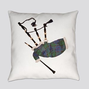 tartan plaid scottish bagpipes Everyday Pillow
