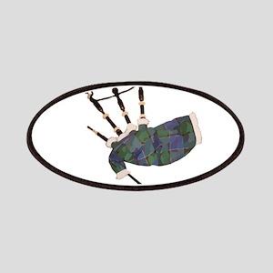 tartan plaid scottish bagpipes Patch