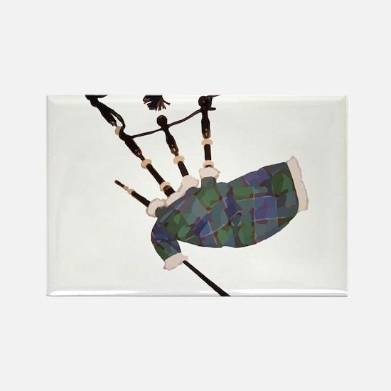 tartan plaid scottish bagpipes Magnets