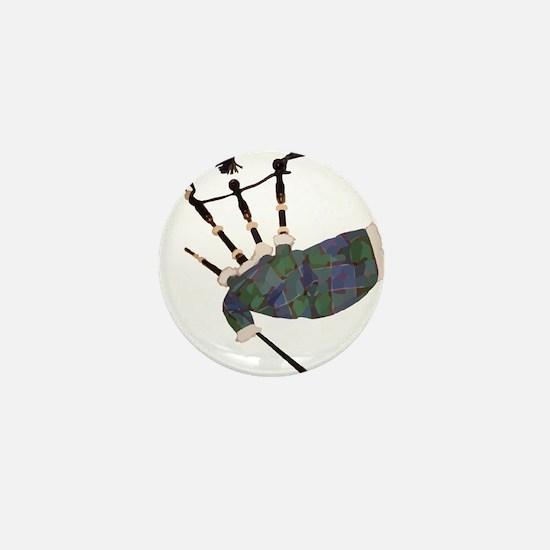 tartan plaid scottish bagpipes Mini Button