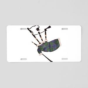tartan plaid scottish bagpi Aluminum License Plate