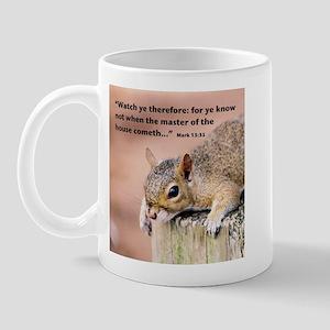 Scripture Mug with Squirrel