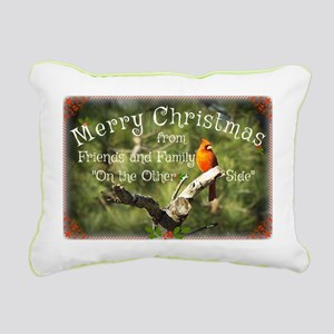 Cardinal Christmas Rectangular Canvas Pillow