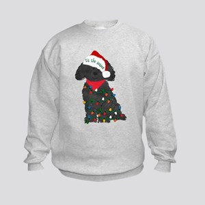 Christmas Labradoodle Kids Sweatshirt