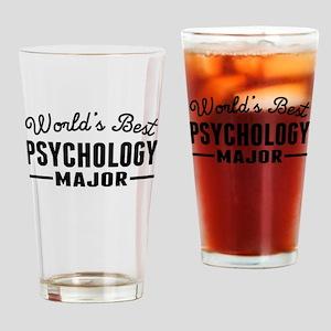 Worlds Best Psychology Major Drinking Glass