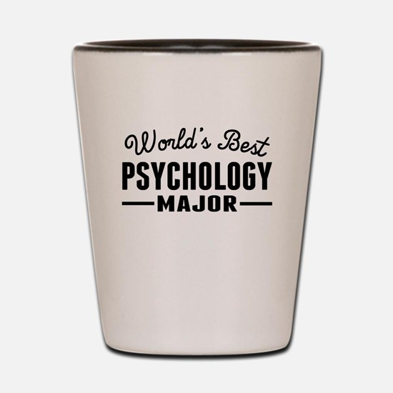 Worlds Best Psychology Major Shot Glass