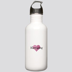 Norway Pink Heart Stainless Water Bottle 1.0L