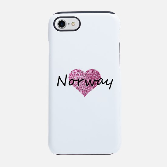 Norway Pink Heart iPhone 8/7 Tough Case