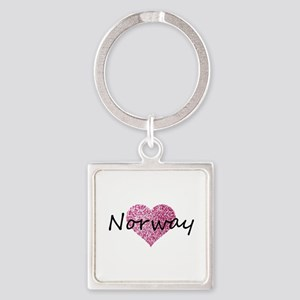 Norway Pink Heart Keychains