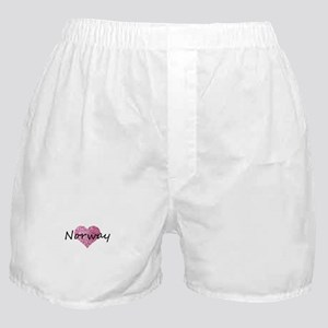 Norway Pink Heart Boxer Shorts