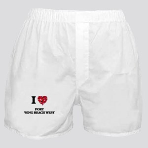 I love Port Wing Beach West Wisconsin Boxer Shorts