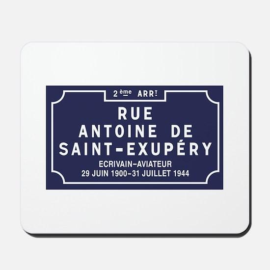 Rue Antoine de Saint-Exupery, Lyon, Fran Mousepad