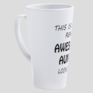 Awesome Auntie 17 oz Latte Mug