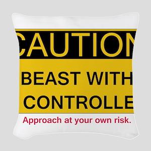 Caution Woven Throw Pillow