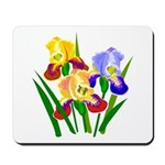 Iris Flower Theme Mousepad