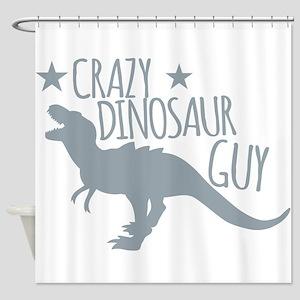 Crazy Dinosaur GUY (T-REX Tyrannos Shower Curtain