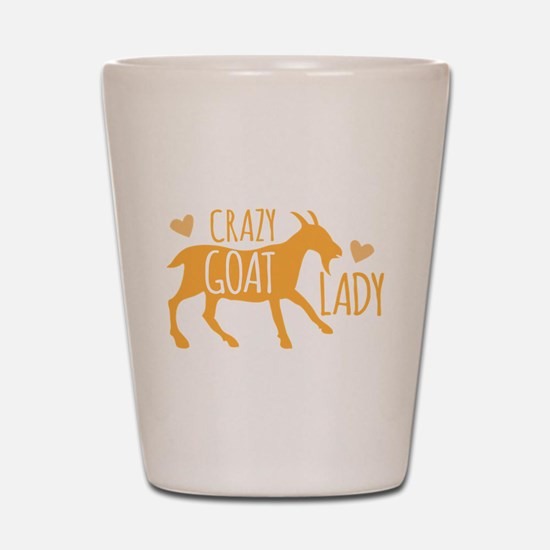 Crazy Goat Lady Shot Glass