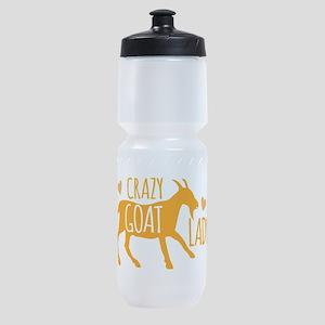 Crazy Goat Lady Sports Bottle