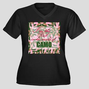 Pink Camo Plus Size T-Shirt
