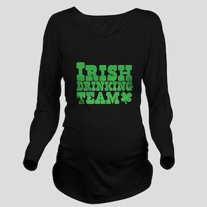 IRISH Drinking team Long Sleeve Maternity T-Shirt